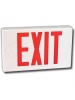 LED Exit Sign - Thermoplastic - Red Letters - 120/347 Volt and Battery Backup - Universal Face Plate - Universal Mounting - Beghelli ECESPLRUM-120/347V